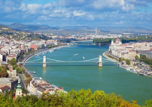 Budapest Hungary from Gallert Hill