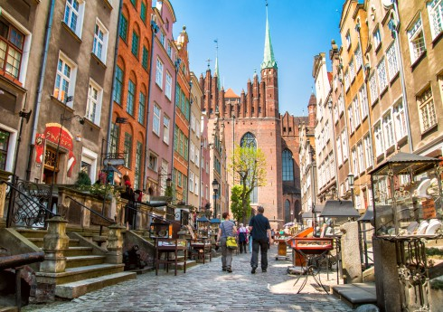 Poland Mariacka Street in Gdansk
